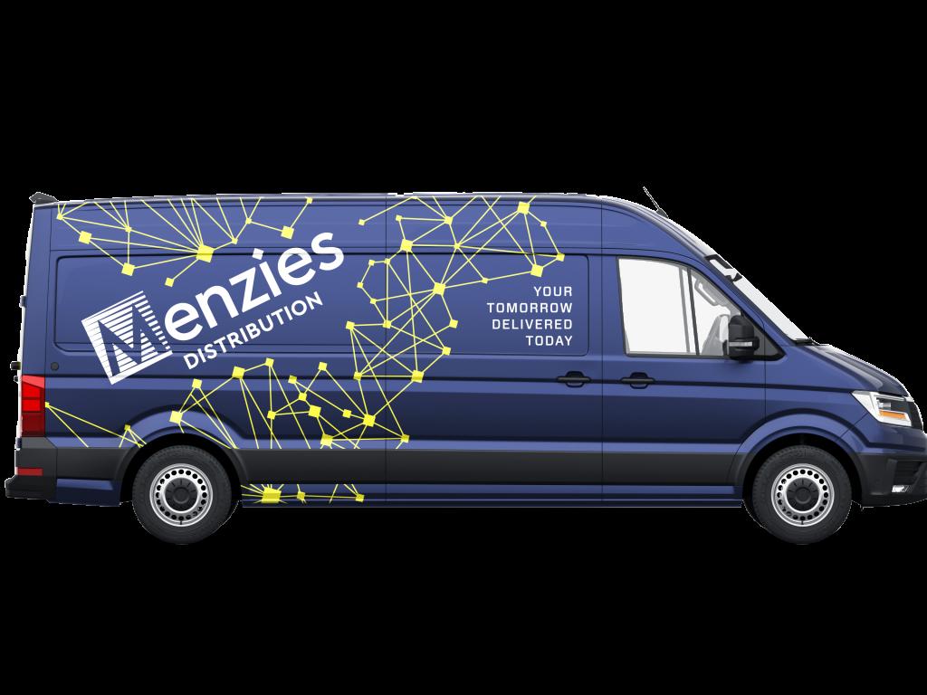 Menzies Distribution branded vw crafter van